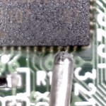 controller chip with solder in the frame